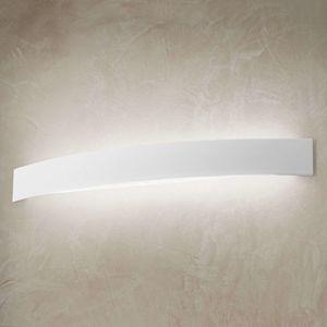 Zahnuté LED nástěnné světlo Curve v bílé