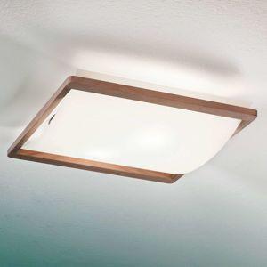 Stropní světlo Solido s dřevěným rámem