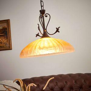 Alabastrový vzhled - závěsné světlo Armelle