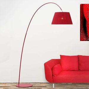 Oblouková stojatá lampa Marion v červené