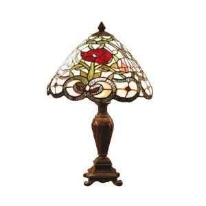 Flora - klasická stolní lampa v Tiffany stylu
