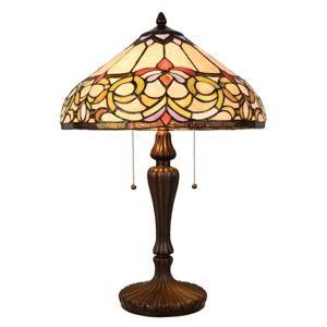 Stolní lampa 5905 skleněné stínidlo Tiffany