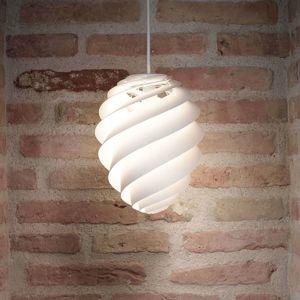 LE KLINT Swirl 2 Small, bílé závěsné světlo