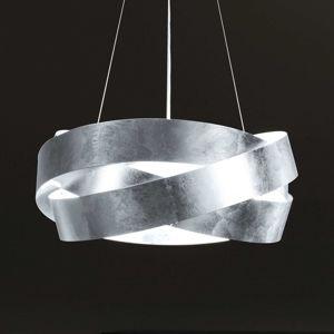 Závěsné světlo Pura s lístkovým stříbrem