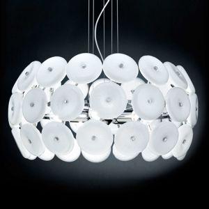 Designové závěsné světlo Star bílé skleněné prvky