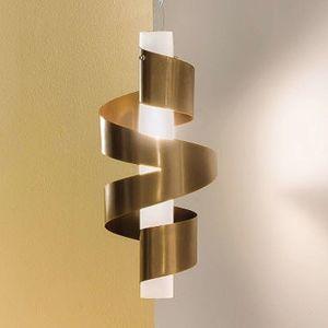 Závěsné světlo Phoenix 1zdr v bronzu a bílé