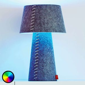 Barvy měnící stolní lampa LED Alice z plsti
