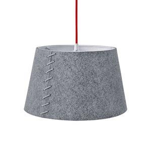 Z šedé plsti - LED závěsné světlo Alice, 30 cm