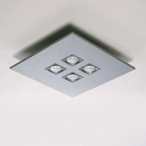 Milan Polifemo - stropní světlo metalicky šedé