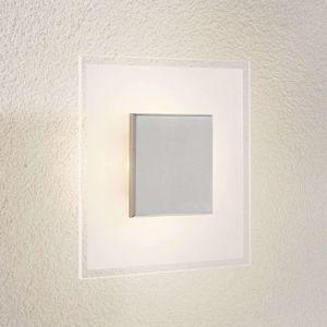 Čtvercové LED stropní světlo Lole ze skla