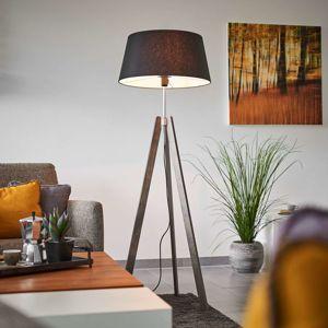 Thea – dřevěná stojací lampa se stínidlem