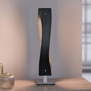 Lucande Lian LED stolní lampa, černá, hliník