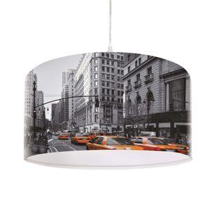 Moderní závěsné světlo City s fototiskem
