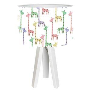 Stolní lampa Giraffe potištěné stínidlo Ø 30 cm