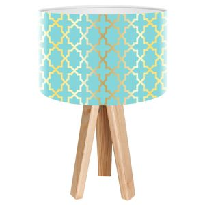 Stolní lampa Tatyana s geometrickým motivem