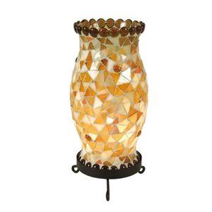 Stolní lampa Enya krémově hnědá
