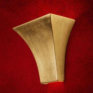 Nástěnné svítidlo Antonie hranaté zlaté