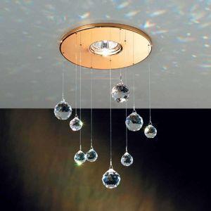 Zapuštěné světlo Feng Shui s prvky Swarovski zlato