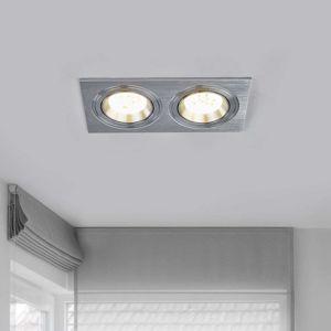 Rohové LED podhledové svítidlo MINAR, 2 žár., Al