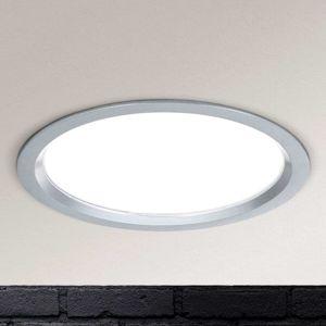 LED podhled. svítidlo Spock stmív. Ø 17 cm stříbro
