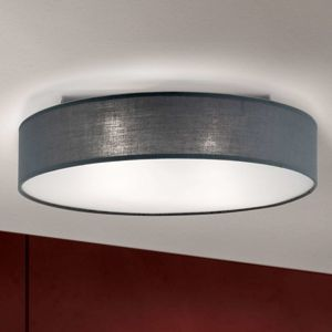 Šedé stropní světlo Ufo s lněným stínidlem