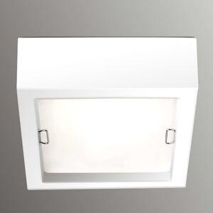 Čtvercové stropní světlo Esferic, bílé