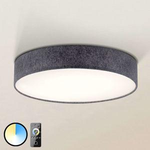 Paul Neuhaus Q-KIARA textilní stropní světlo šedé