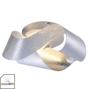 Nástěnné LED světlo Nevis, vlnité, stříbrné
