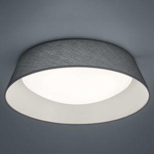 Textilní LED stropní svítidlo Ponts šedé, Ø 45 cm