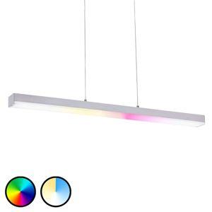 Závěsné LED Keyan, WiZ, hranaté/podélné, nikl