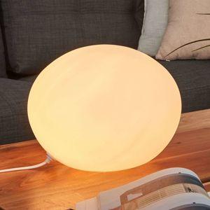 Stolní lampa sklo ovál Ø 30 cm