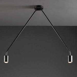 Dvouzdrojové LED stropní svítidlo Caos černé
