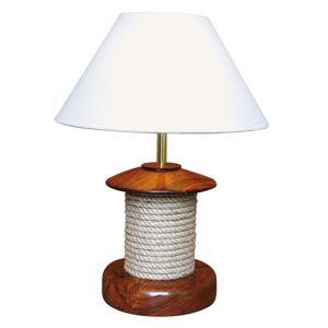 Stolní lampa Pulley se dřevem