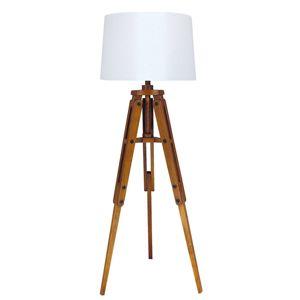 Dřevěná stojací lampa Marvin tvaru stativu 122 cm