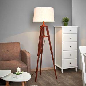 Stativová stojací lampa Marvin dřevo, výška 158 cm