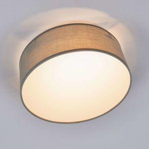 Šedé textilní stropní světlo Ceiling Dream 30 cm