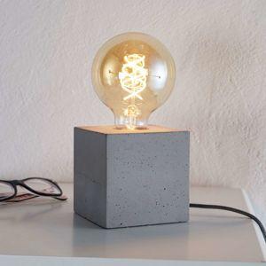 Moderní stolní lampa Strong z betonu