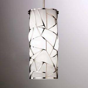 Bílé závěsné světlo Orione umělecký design