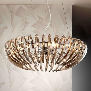 Závěsné světlo Ariadna křišťál šampaňské 66cm