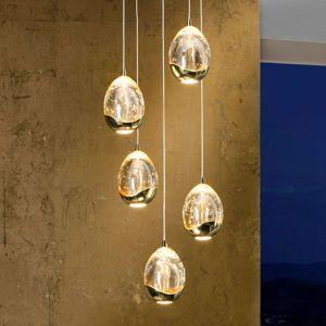 LED závěsné světlo Rocio, 5 žárovek zlaté