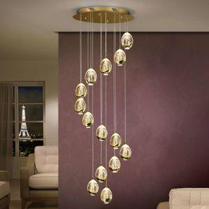 Závěsné světlo Rocio 14 žárovek, zlaté