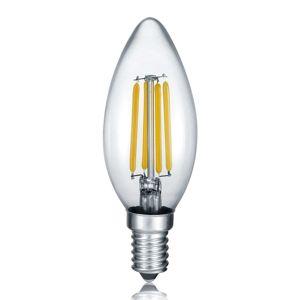 LED svíčka E14 4W vlákna, 2.700K stmívací vypínač