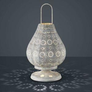 Anticky šedá orientální stolní lampa Jasmin
