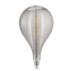 LED světlo Kapka E27 8W 2.700K kouřové
