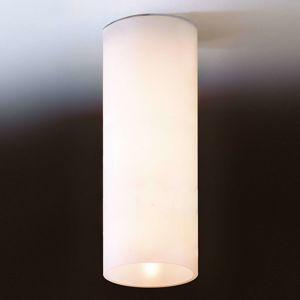 Prosté stropní světlo DELA z bílého skla