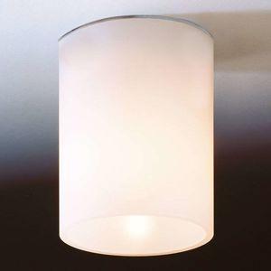Bílé stropní světlo DELA SHORT ze skla