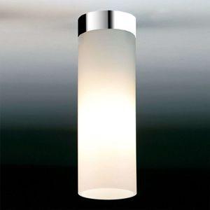 Matně bílé stropní světlo DELA BOX, chrom