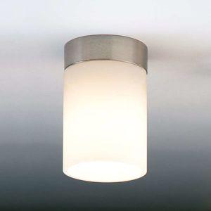 Decentní stropní světlo DELA BOX SHORT, nikl matný