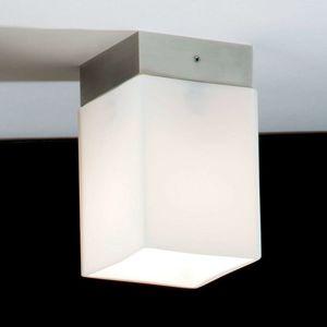 Krátké stropní světlo QUADRO BOX SHORT, nikl matný