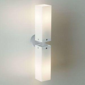 Dvojité nástěnné světlo CUBE TWIN, nikl matný